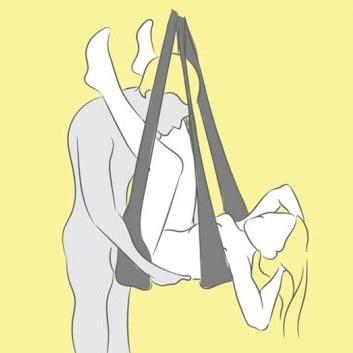 Sexställningar i sexgunga - Den avslappnade
